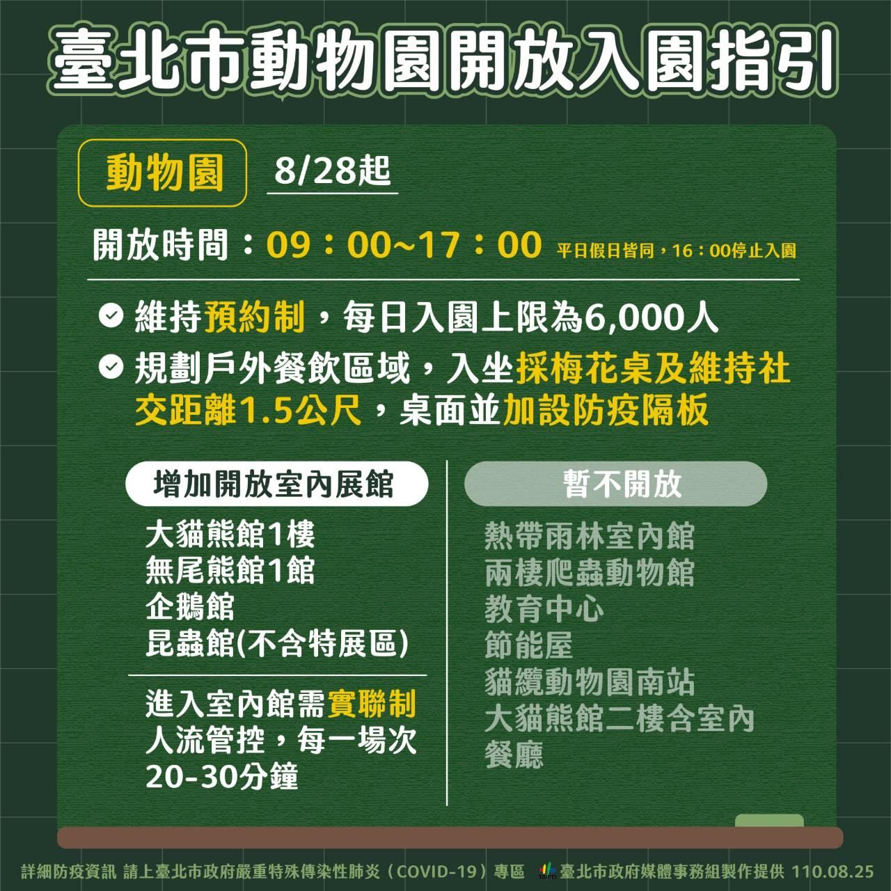 臺北市立動物園開放指南